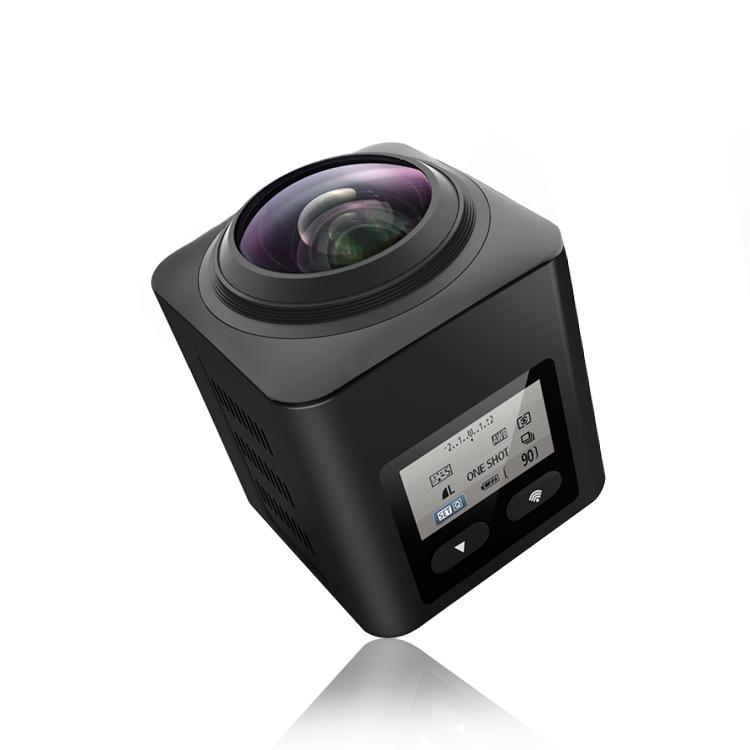 ZHONGXING Máy ảnh thể thao 360 độ toàn cảnh camera chuyển động vuông Camera DV HD