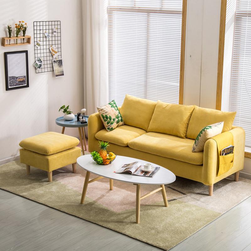 Ghế Sofa Nhà máy trực tiếp căn hộ nhỏ đơn giản vải sofa kinh tế net phần đỏ chaise góc góc sofa có t