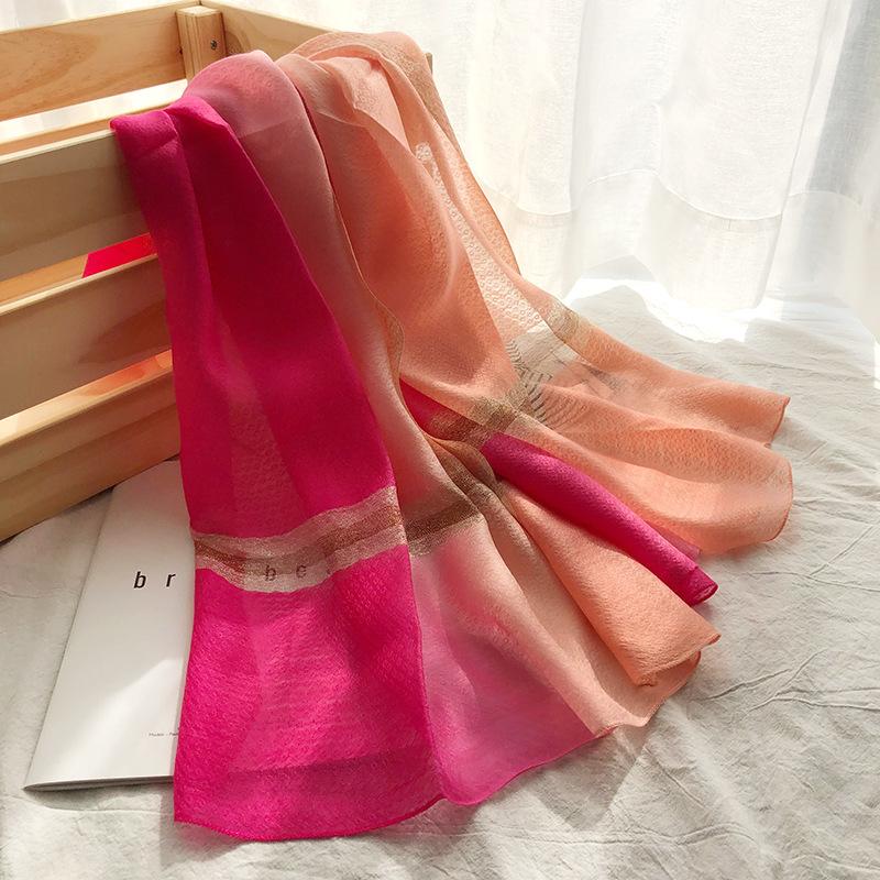 Khăn biến màu Mùa hè bên bờ biển chống nắng khăn tắm màu gradient treo khăn quàng cổ nữ điều hòa khô