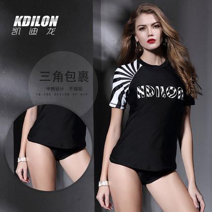 chống thấm nước  kdilon Kaidilong quần short chia đồ bơi bảo thủ che bụng nóng mùa xuân nữ áo tắm gợ