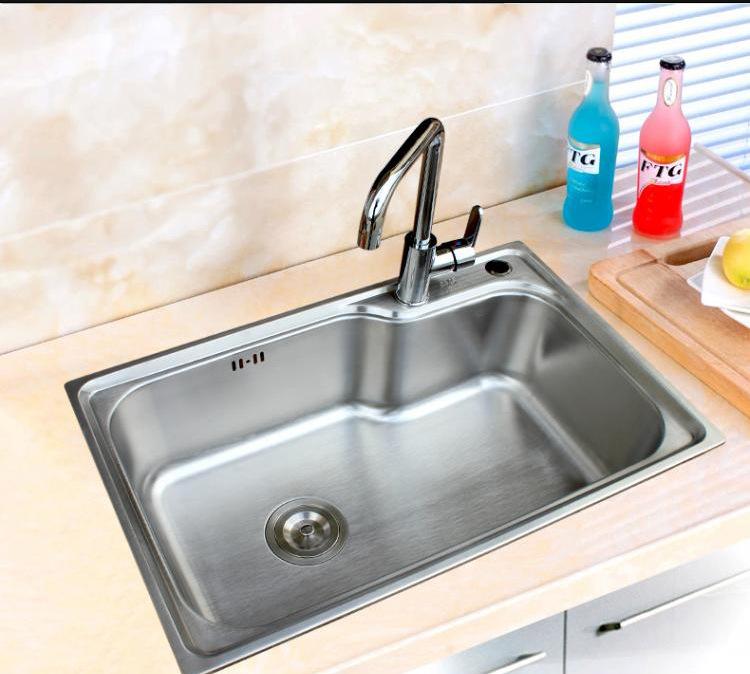 SIBEILE Bồn rửa Speyer bếp SUS304 bồn rửa chén không gỉ máng một mảnh dày chậu rửa chén kích thước g