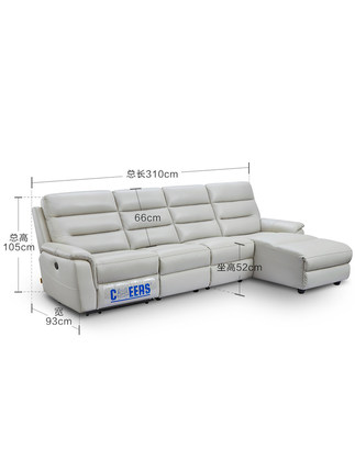 Ghế Sofa CHEERS Chihuahua hạng nhất hiện đại tối giản bọc da sofa điện toàn bộ căn hộ nhỏ chức năng