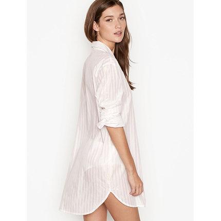 Đồ ngủ VICTORIA'S SECRET Victoria's Secret Home Front cài cúc áo dài tay áo ngủ nữ mùa hè 11150210