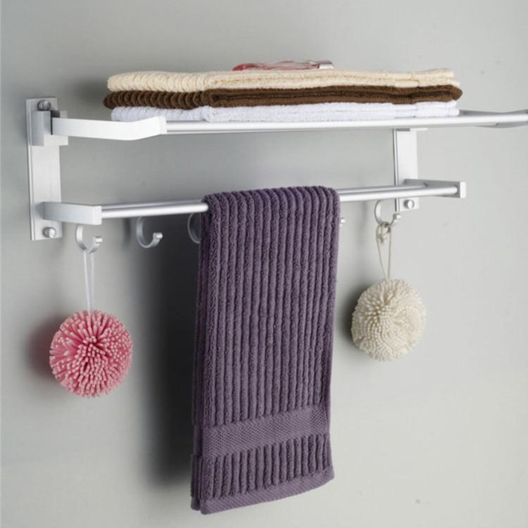 SHUNHONG Kệ khăn tắm Hệ thống nước nhôm khăn giá không gian gấp nhôm giá khăn phụ kiện phòng tắm phụ