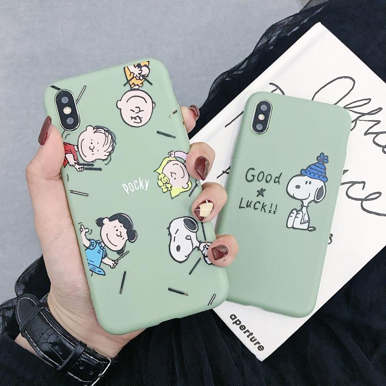 bao da điện thoại Phim hoạt hình dễ thương Vỏ điện thoại di động Snoopy Huawei vinh quang 7X / 8/9/1