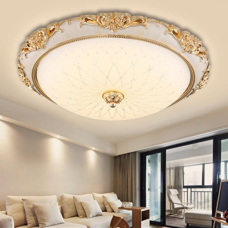 YINGXIANG đèn ốp trần LED trần châu Âu tròn đơn giản phong cách châu Âu phòng khách đèn phòng ngủ lố