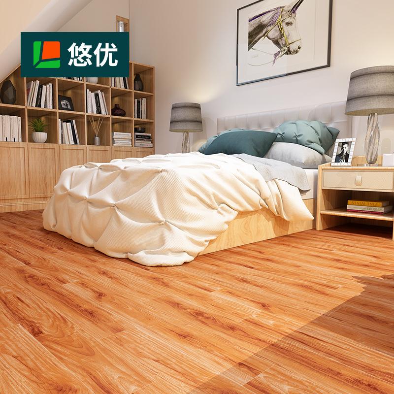 YOUYOU Ván sàn Sàn nhựa PVC đá dày 4.2mm chống mài mòn bảo vệ môi trường chống thấm sàn chống tĩnh
