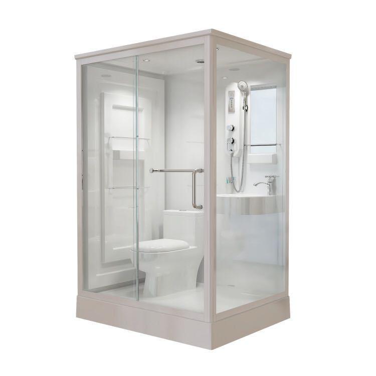 JINDING Bồn đứng tắm Nhà máy trực tiếp phòng tắm vuông đơn giản phòng tắm khách sạn tích hợp phòng t