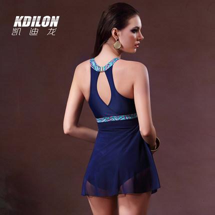 chống thấm nước   kdilon Đồ bơi Kaidilong của phụ nữ cảm giác váy kiểu Xiêm thời trang ngày lễ ngực