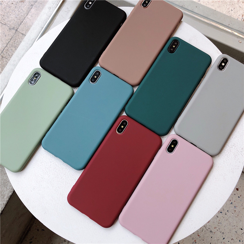 Go Boy bao da điện thoại Ốp lưng điện thoại màu đơn giản đơn giản iphoneX Max sáng tạo màu sắc phổ b