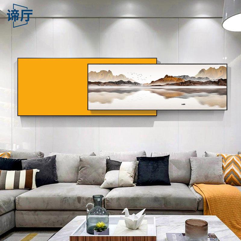 DITING Tranh trang trí Tranh phong cảnh Trung Quốc mới của phòng khách tường sofa nền bức tranh tran