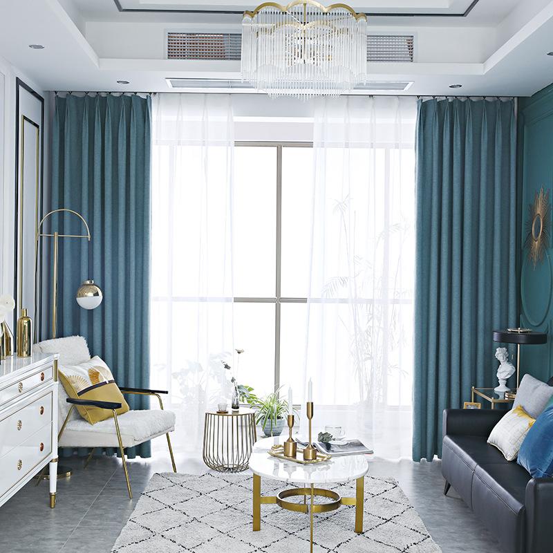 LAOWANTONG Thị trường trang trí nội thất 2019 mới Bắc Âu rèm cửa đơn giản tùy chỉnh nhà máy trực tiế