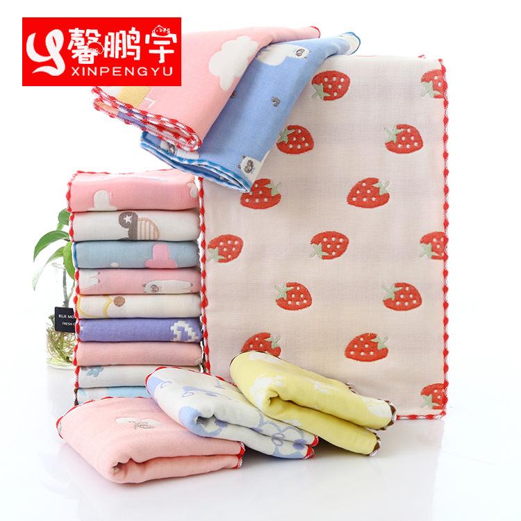 XINOENGYU Khăn lông Khăn trẻ em sáu lớp khăn bông bà mẹ và trẻ em bé gạc khăn nhỏ bé rửa mặt khăn ho