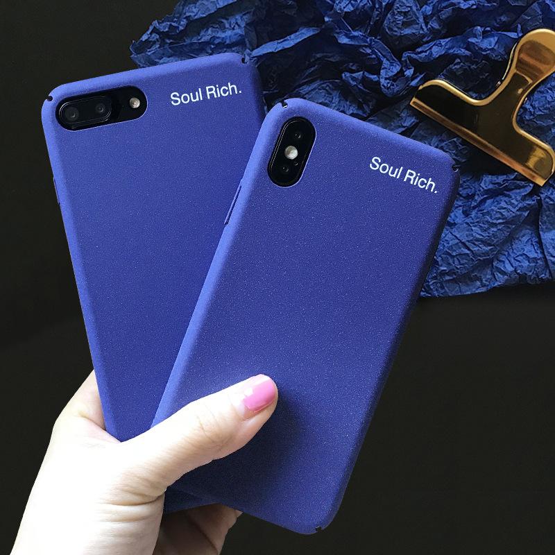 Mr.orange bao da điện thoại Linh hồn màu xanh đơn giản phong phú cho vỏ điện thoại di động Apple X i
