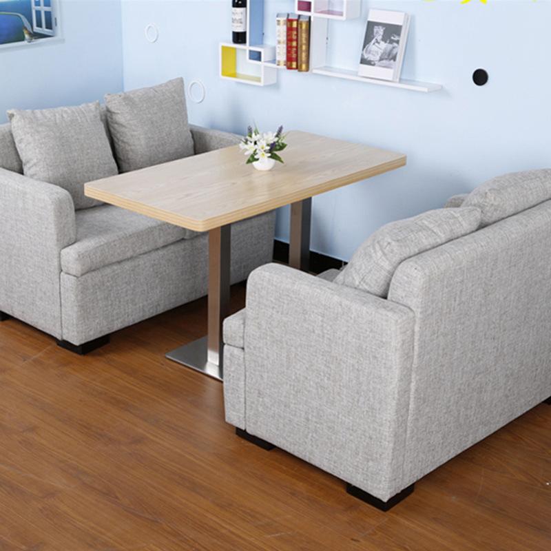 WSLY Ghế Sofa Cửa hàng trà sofa món tráng miệng bình thường đồ uống lạnh đồ ăn nhẹ boong vải nhà hàn