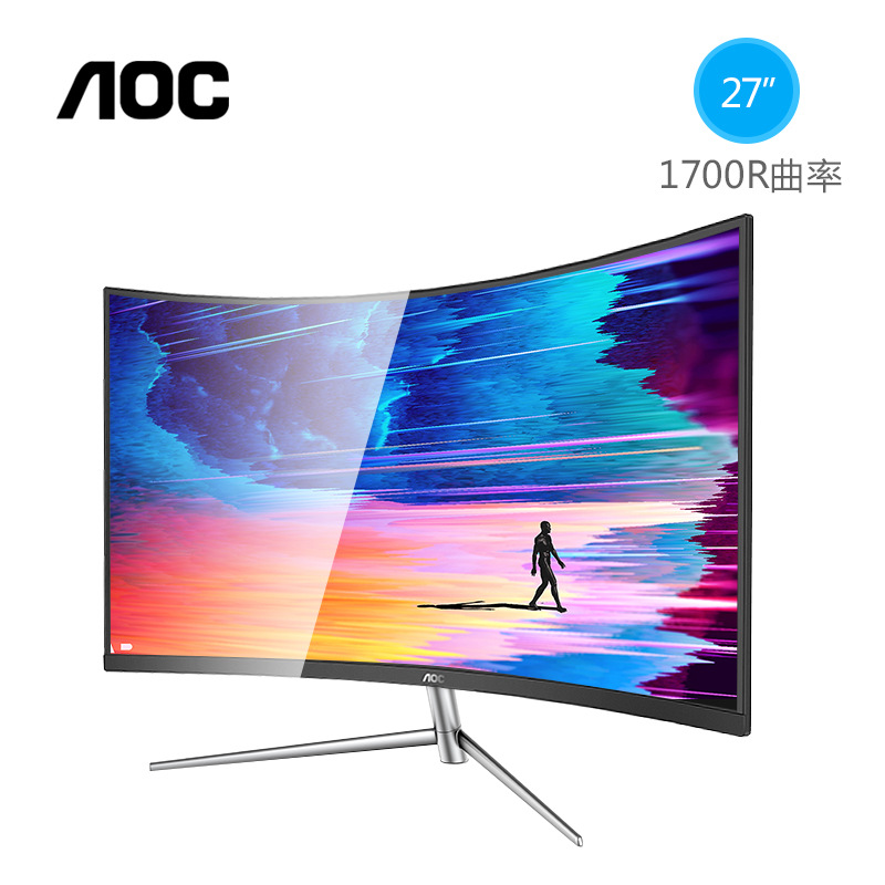 AOC Màn hình cong AOC C27V1Q 27 inch màn hình cong ăn gà trò chơi HDMI máy tính để bàn LCD