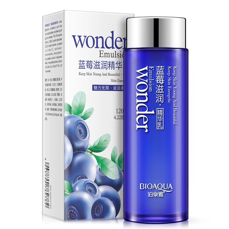 BIOAQUA kem dưỡng Blueberry Essence Moisturising Oil Control Lotion Cosmetics Giữ ẩm và trẻ hóa Blue