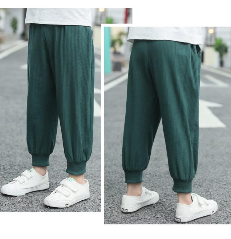 Đầm váy trẻ em Boys pants Boys and children mosquito-proof pants Summer wear thin summer lantern cot