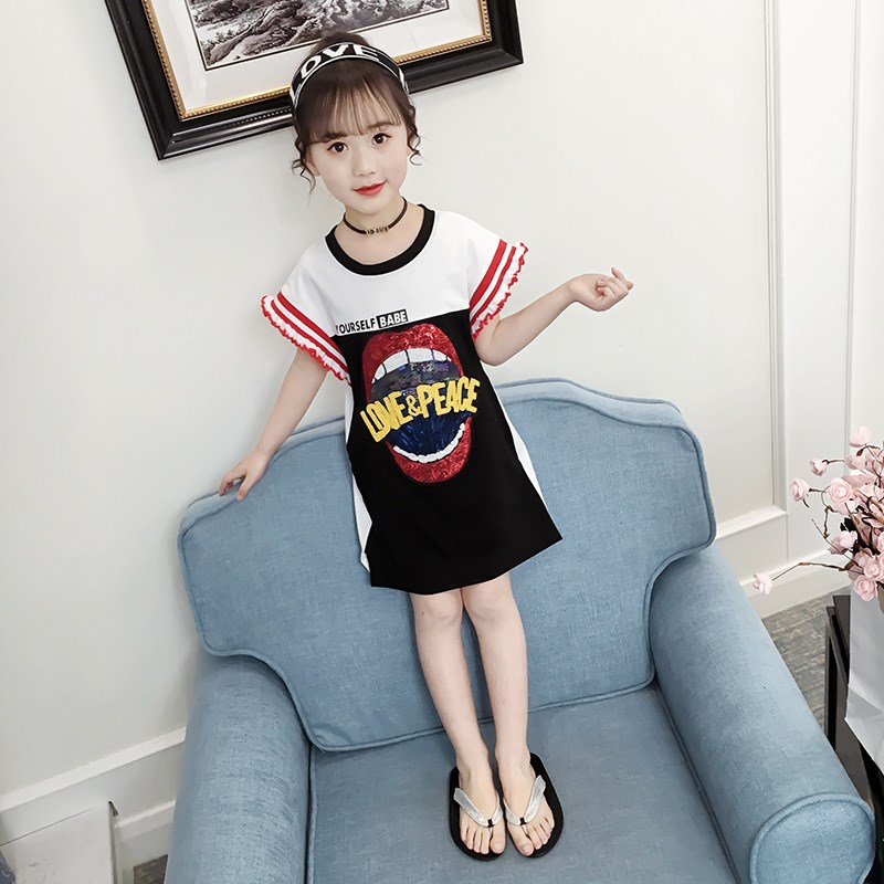 Girls'Dresses Summer Dresses 2019 Little Girls Korean Children's Dresses Fashion Princess Dresses