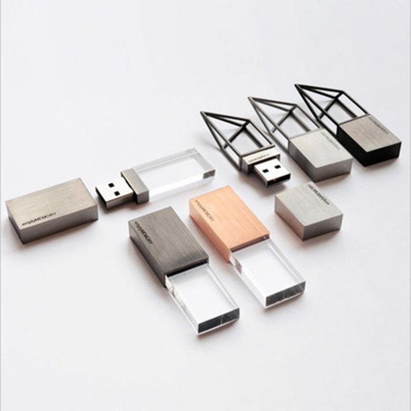 MJZZ USB Tùy chỉnh đĩa Crystal U Đĩa pha lê U Đĩa thủy tinh trong suốt Đĩa U Cá tính sáng tạo U đĩa