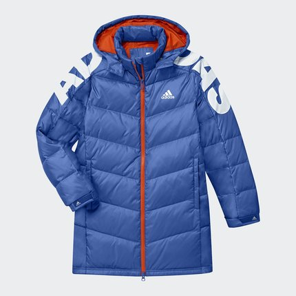 Thị trường trang phục trẻ em  Adidas chính thức Adidas nam lớn đào tạo cậu bé lớn xuống áo khoác BP6
