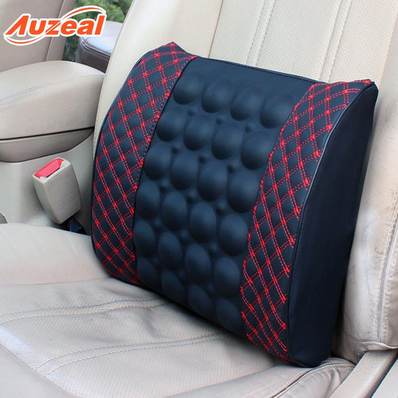 Auzeal Gối tựa lưng Xe massage thắt lưng điện Rượu vang đỏ gối phụ kiện nội thất ô tô Đệm văn phòng