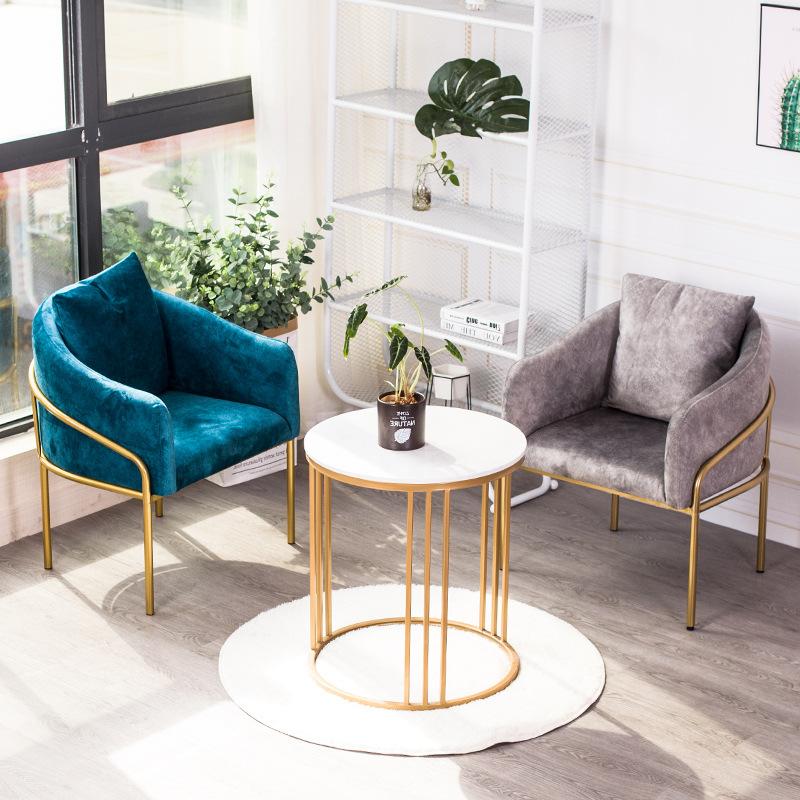 Ghế Sofa Vải Bắc Âu đơn sofa Giải trí phòng khách phòng ngủ sofa lười biếng Cafe khách sạn bàn đàm p
