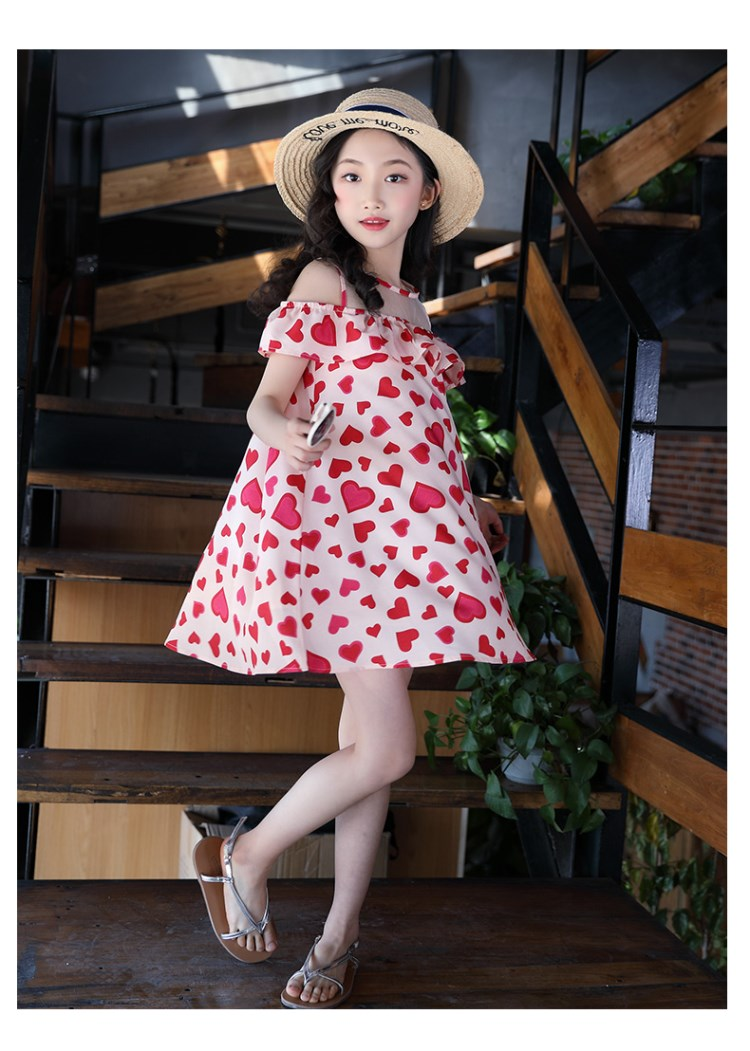 New Dresses Girls Summer Skirt 2019 Big Children's Princess Skirt, Lotus Leaf Edge Fashion Skirt Ch
