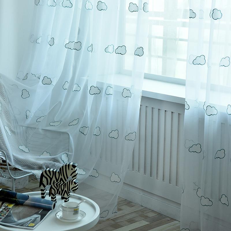 YXZL rèm cửa sổ Gạc trắng, màn hình cửa sổ thêu, rèm phòng ngủ phòng khách, sợi, màn hình cửa sổ bay
