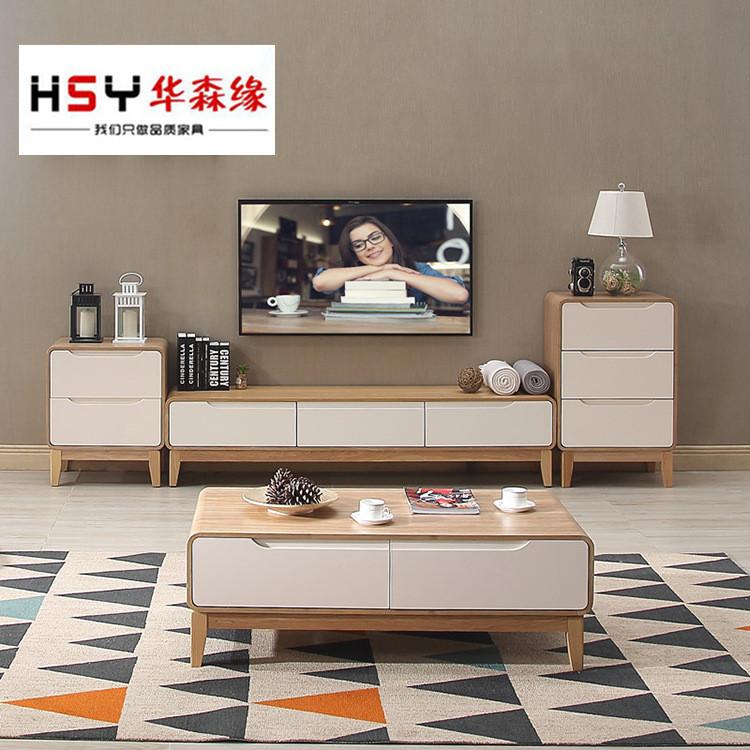 HUASENYUAN Kệ Tivi Watson cạnh bàn trà TV tủ đặt Bắc Âu tối giản phòng khách đồ nội thất bàn cà phê