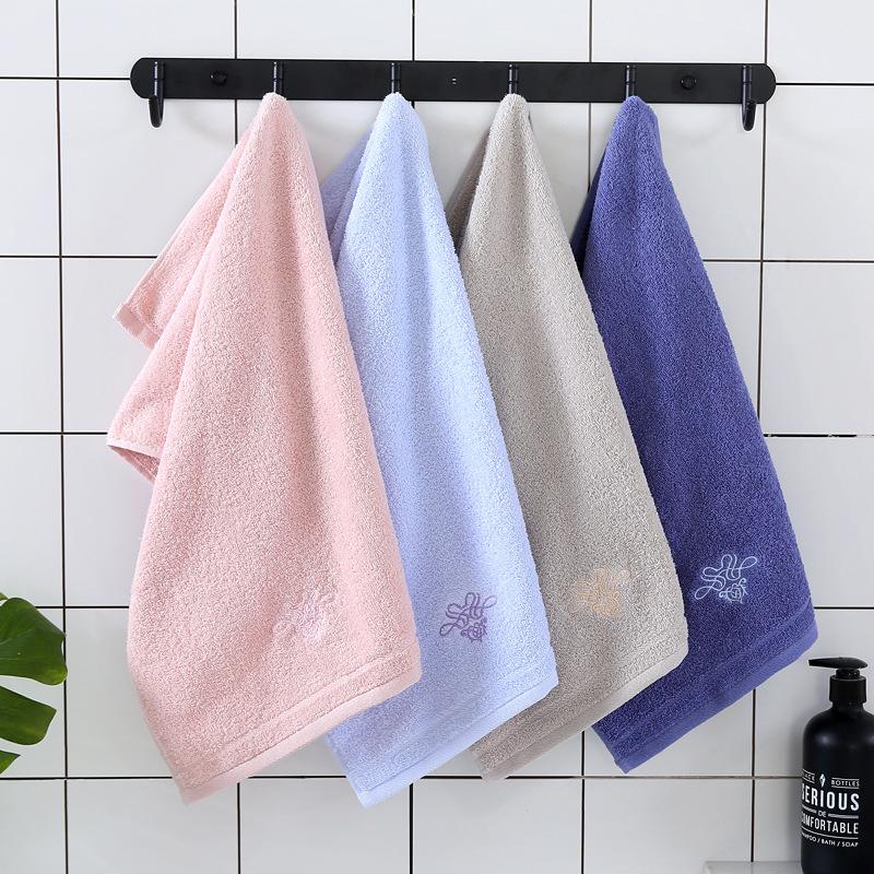 Khăn lông Khăn bông bán buôn nhà máy trực tiếp bán buôn khăn bông thêu tùy chỉnh thấm khăn mềm quà t