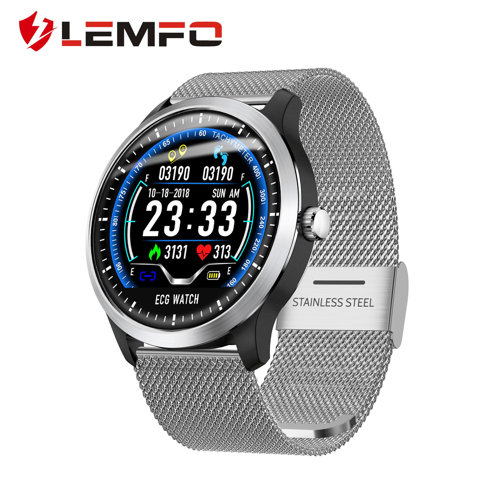 LEMFO Đồng hồ thông minh LEMFO N58 không thấm nước ECG + PPG ECG HRV theo dõi nhịp tim theo dõi huyế
