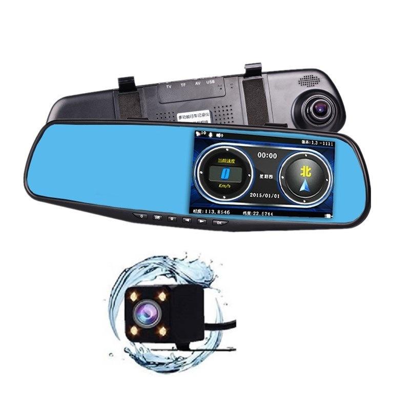 ZHONGXING Chó rôbôt Gương chiếu hậu cung cấp qua biên giới gương chó điện tử ghi âm phía trước và ph