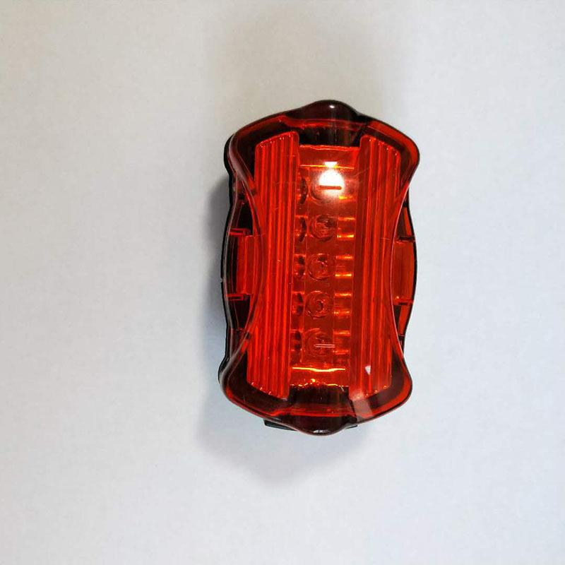 FUJIZHE đèn xe Nhà máy trực tiếp đèn đuôi xe đạp leo núi 5 đèn cảnh báo đầy màu sắc đèn xe đạp [Đèn