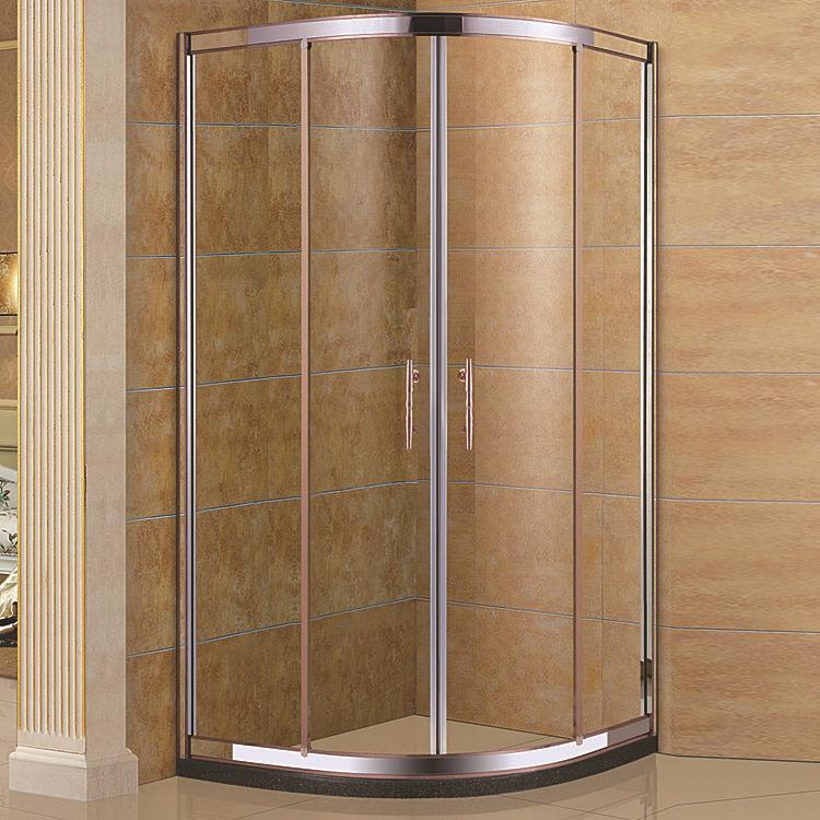 JINBAILI Bồn đứng tắm Nhà máy bán buôn phòng tắm vòi sen kính cửa trượt phòng tắm cong với cơ sở đá
