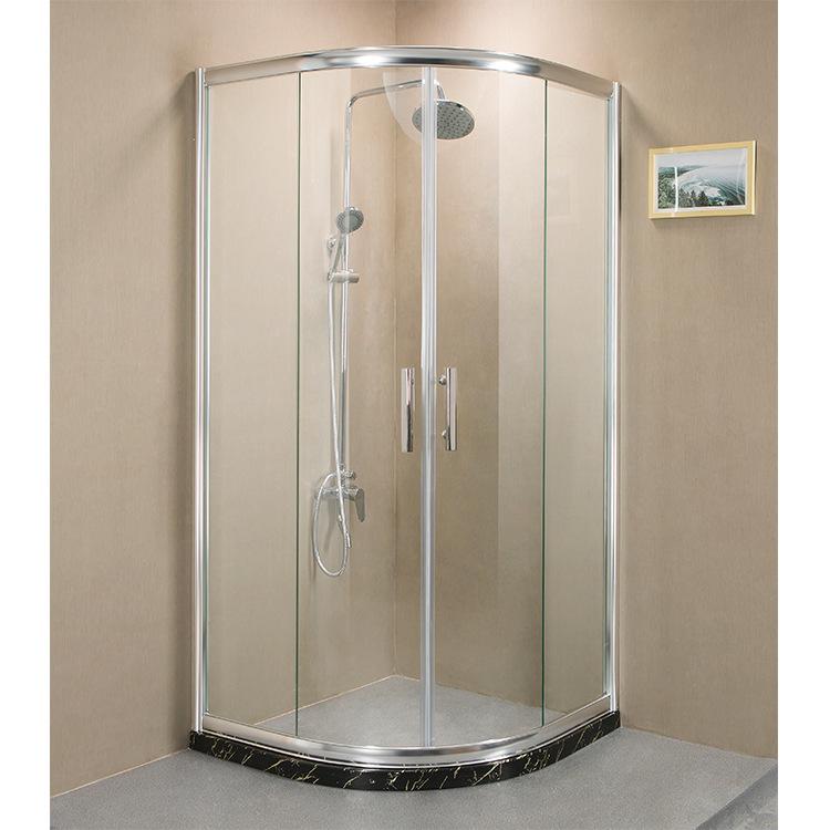 Bồn đứng tắm Nhà máy trực tiếp bán nhôm phòng tắm hồ quang đơn giản kính cường lực cửa phòng tắm phò