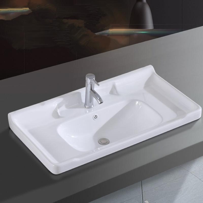 LAIJIAN Bồn rửa mặt Phòng tắm bán nhúng một chậu rửa chậu lưu vực đơn lưu vực kết hợp lưu vực giặt c