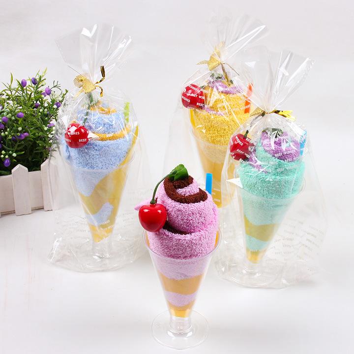 YYYX Khăn bánh kem Quà tặng ngày lễ tình yêu Bánh kem Cup cao cấp Quà tặng sinh nhật sáng tạo Quà tặ