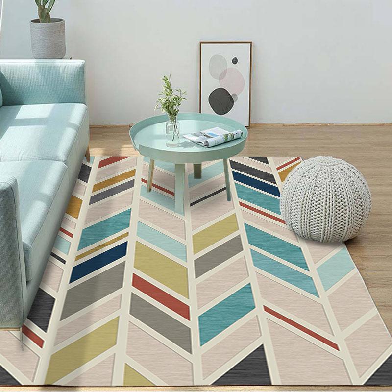 SILU thảm lót Phòng ngủ tối giản Bắc Âu thảm hình học trừu tượng hình phòng khách bàn cà phê thảm nh