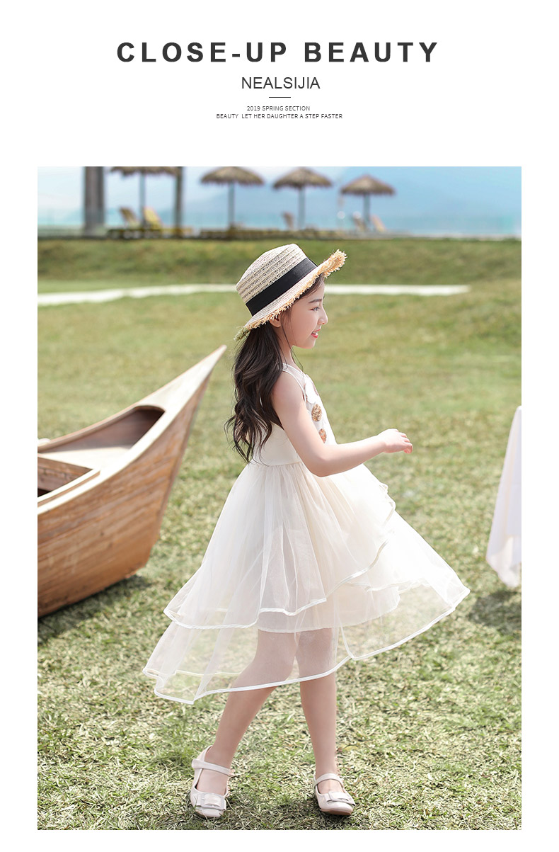 New Summer Dresses for Girls and Girls in 2019 Korean Version of Super Occidental Children's Prince