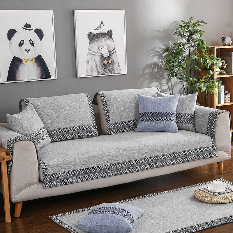 LIANYIFEI Đệm lót SoFa Bốn mùa phổ vải cotton và vải lanh sofa đệm nhà sản xuất tùy chỉnh bán buôn đ
