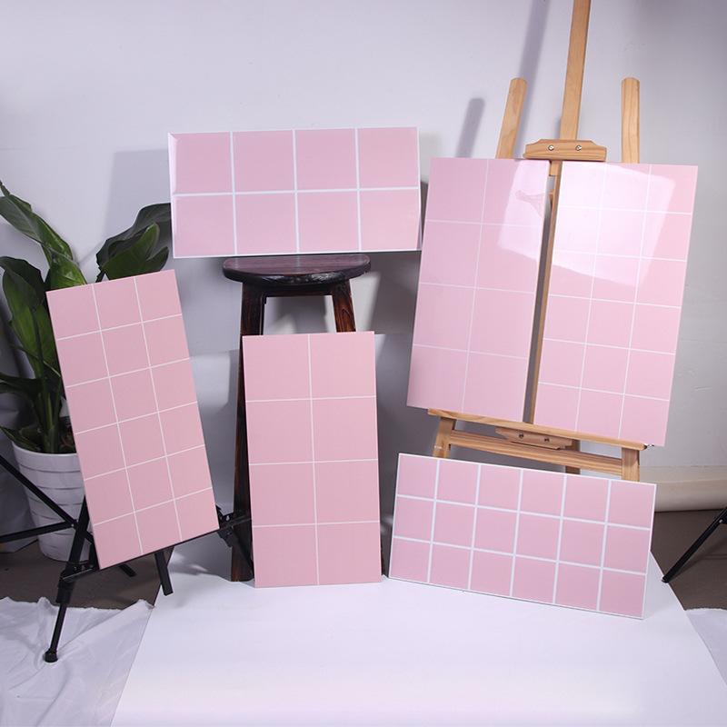MAIDIQI Gạch men sứ Bắc Âu màu hồng gạch gạch Công chúa nhà bếp phòng tắm sáng mờ gạch tường phòng t