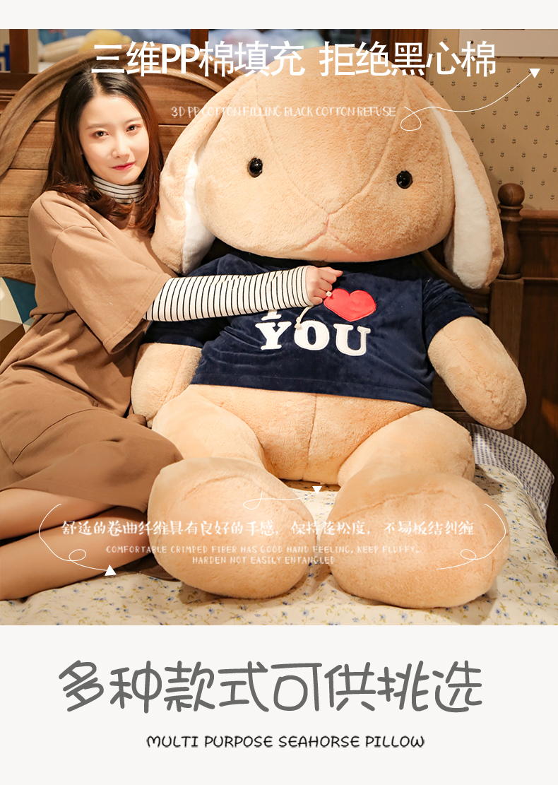 Búp bê vải ISOCOOOL Lovely Lower Rabbit Dummy Plush Toy Little White Rabbit Doll Pillow for thiếu nữ