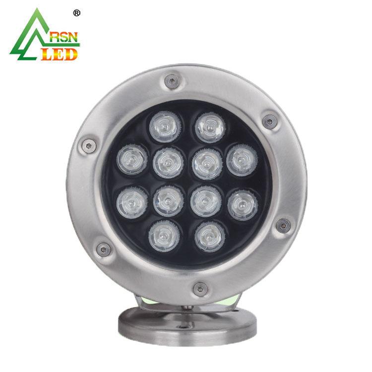 RUISEN Đèn LED âm nước Phụ kiện bể bơi đài phun nước 12W ánh sáng dưới nước / chip wafer thương hiệu