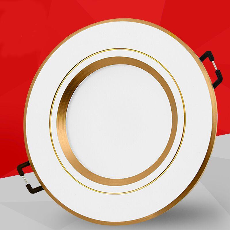 HONGSHENGDA Bóng đen LED âm trần Đèn led âm trần led 3w siêu mỏng 2,5 inch mở 7 7.5 8 9 cm đèn trần
