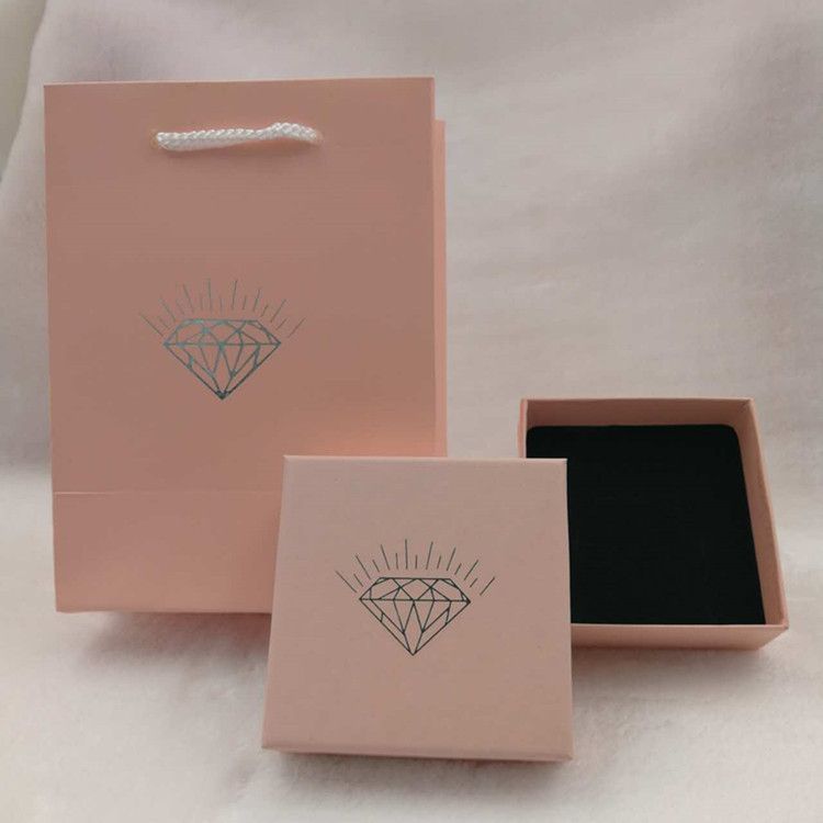 ZHENGMING Túi đựng trang sức Vintage giấy kraft trang sức hộp đặc biệt hộp trang sức hồng kim cương