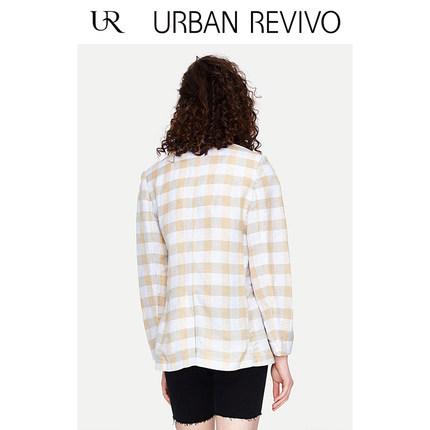 Áo khoác lửng UR2019 hè trẻ trung mới phù hợp với màu áo kẻ sọc phù hợp với YU13S1CN2000