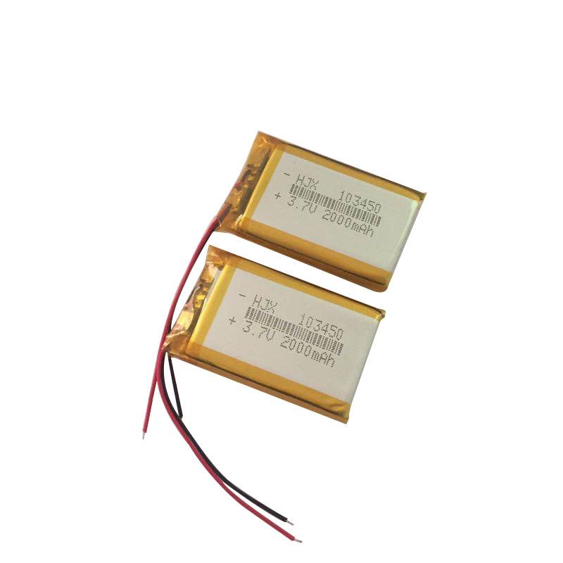 HJX Pin Lithium-ion Nhà máy bán trực tiếp 3.7V pin lithium polymer 103450 máy massage đồ chơi câu ch