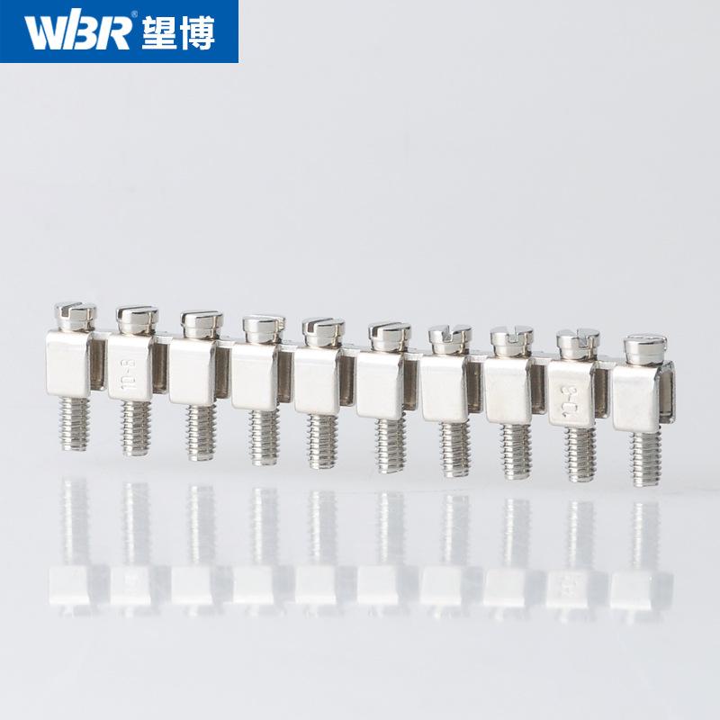 WBR Cầu đấu dây Domino Đầu nối trung tâm khối FBI-10-10 ở Anh Đầu nối ngắn đầu nối đầu cực điện áp U