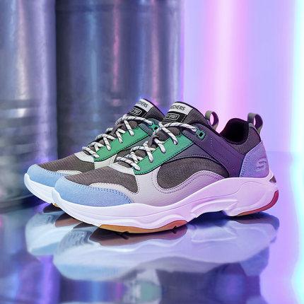 thị trường giày nam  Skechers SKECHERS 2019 thời trang mới retro khâu giày thể thao dây đeo giày thư